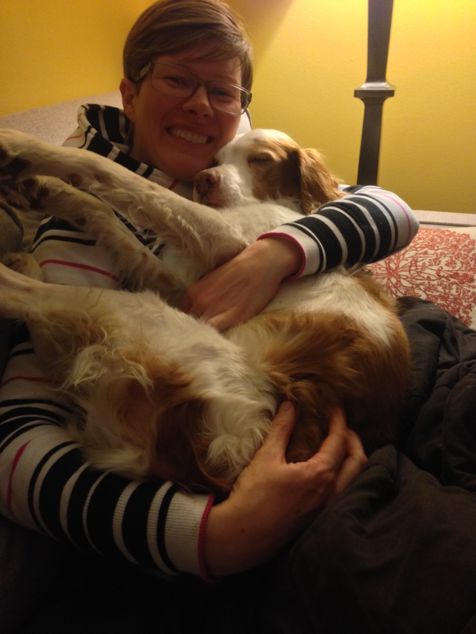 Ashley and Lady, a lovely Brittany Spaniel.